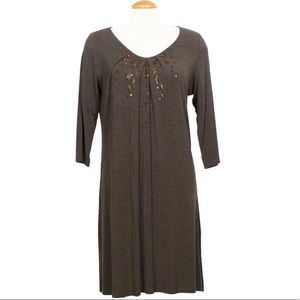 Eileen Fisher Brown Jersey Dress